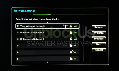 Samsung TV Network Settings